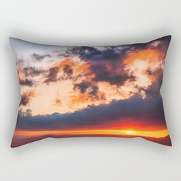 Beautiful cloudy sunset on a calm sea Rectangular Pillow
