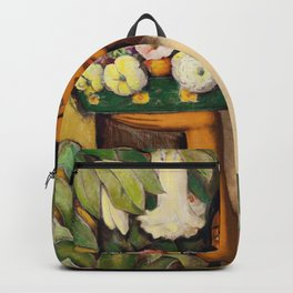Mujer con Fiores (Bell Flowers, Dahlia & Calla Lilies) by Alfredo Martinez Backpack
