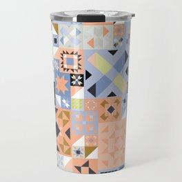 Peach and Lavender Quilt Travel Mug