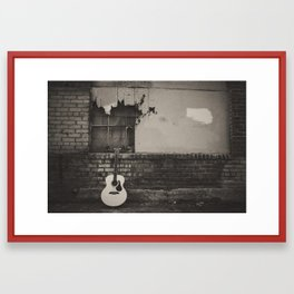 alley guitar Framed Art Print