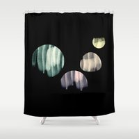planets Shower Curtains featuring planets  by sustici