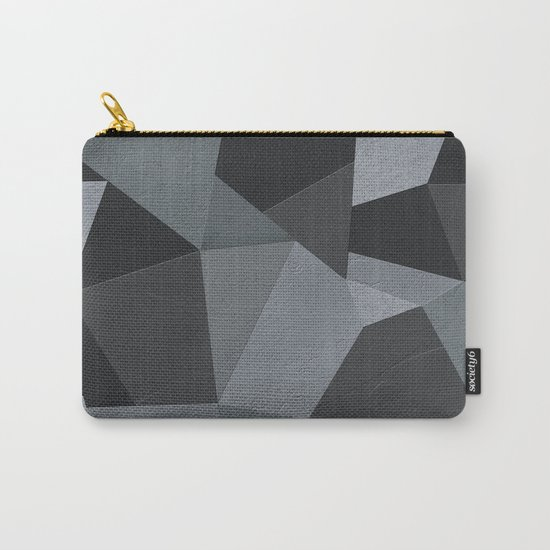Black and grey worn . Leather patches . Carry-All Pouch