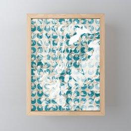 New Tendances light marble Framed Mini Art Print