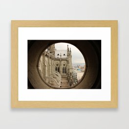 Lost in a Gotic cathedral Framed Art Print