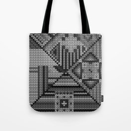 grey knit Tote Bag