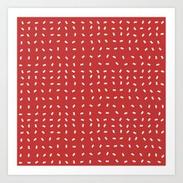 Merry Holidays - Red Confetti Art Print