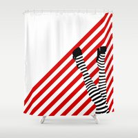 legs Shower Curtains featuring Legs by Dee Dubs