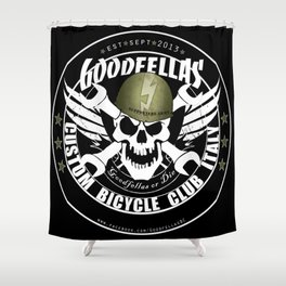 Goodfellas Custom Bicycle Brigade - SUPPORTERS ARMY Shower Curtain
