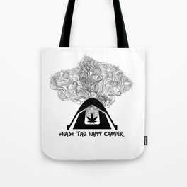 Hash Tag Happy Camper Tote Bag