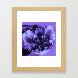 Abstract Blue Flower Framed Art Print