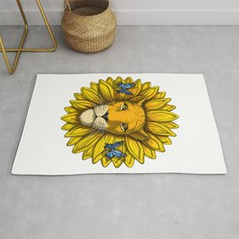Lion Sunflower Rug