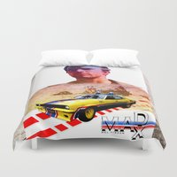 mad max Duvet Covers featuring Mad max poster by danimo