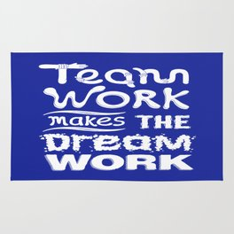 Team Work makes the dream work Inspirational Motivational Quote typography Design Rug