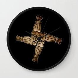 Saint Brigid's Cross Wall Clock