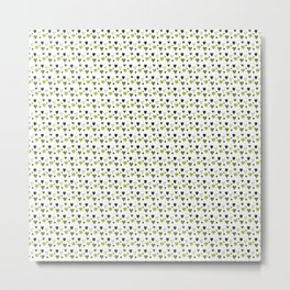 Green Heart Pattern Metal Print