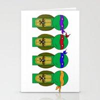 teenage mutant ninja turtles Stationery Cards featuring Teenage Mutant Ninja Turtles by Jen Talley