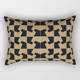 Abstract hexagon periodic tessellation pattern gamboge black Rectangular Pillow