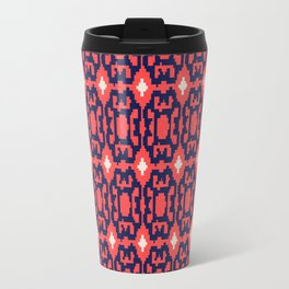 esperanza - minimal - coral + navy Travel Mug