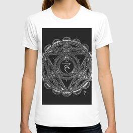 Black and White Throat Chakra T-shirt