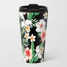 hibiscus orchid pattern Travel Mug