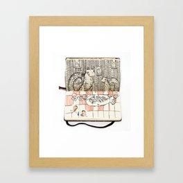 The Last Supper (Snails) Framed Art Print