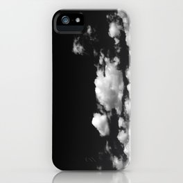 Cotton Clouds (Black and White) iPhone Case