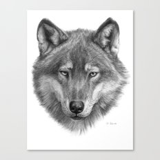 Wolf face G084 Canvas Print