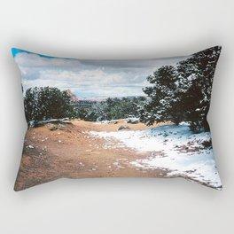 Snowy Mountain Path Rectangular Pillow