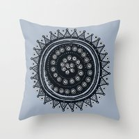 ethnic Throw Pillows featuring Ethnic by Iris López