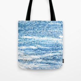 Steel blue nebulous watercolor texture Tote Bag