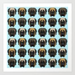 Mastiff Trio Art Print