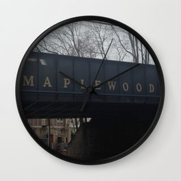 Maplewood - Railway Bridge Wall Clock