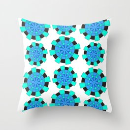 abstract green and blue cloves Throw Pillow