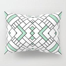 PS Grid 45 Mint Pillow Sham