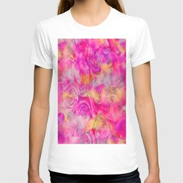 Rainbow Rose Abstract T-shirt