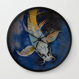 Dragon Koi Wall Clock