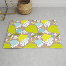 Pears + Pear Blossoms Rug