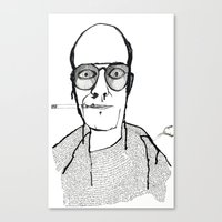 hunter s thompson Canvas Prints featuring Hunter S Thompson by daniel davidson
