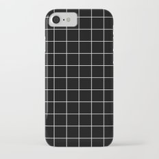 Black White Grid iPhone 7 Slim Case