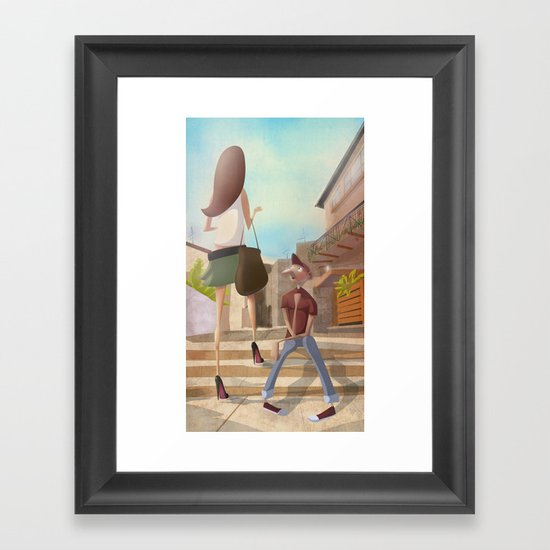 That Girl from Ipanema Framed Art Print