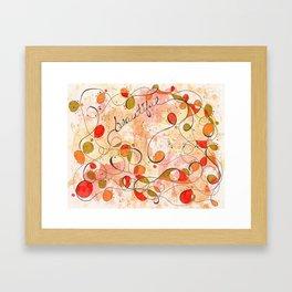 Flourish: Beautiful Framed Art Print