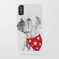 boxer iPhone & iPod Cases featuring Boxer by Natasha Maiklem
