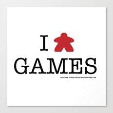 I Meeple Games Canvas Print