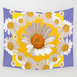 DECORATIVE YELLOW WHITE DAISIES Wall Tapestry