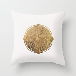 Gold Squircle Throw Pillow