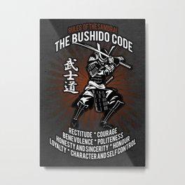Samurai Bushido Code Metal Print