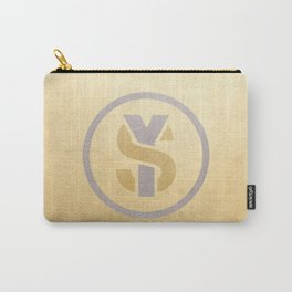 SY Lifestyle Logo - Gold Silver  Carry-All Pouch