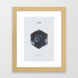 Minimalist Travel Poster - Moon Framed Art Print