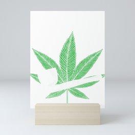 Pipe Down Funny Marijuana Cannabis Pipe Mini Art Print