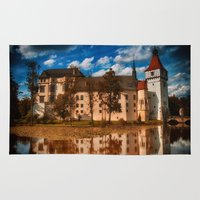 castle in the sky Area & Throw Rugs featuring Castle by DistinctyDesign